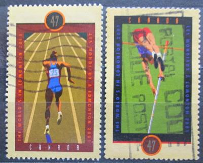 Kanada 2001 MS v lehké atletice Mi# 1992-93 0207