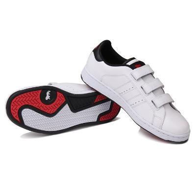 Pánské kožené boty Lonsdale, suchý zip, velikost UK 11 (46)