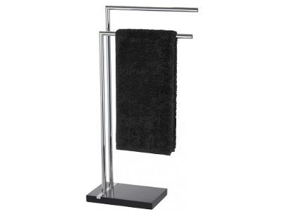 Koupelnový stojanový věšák na ručníky NOBLE BLACK