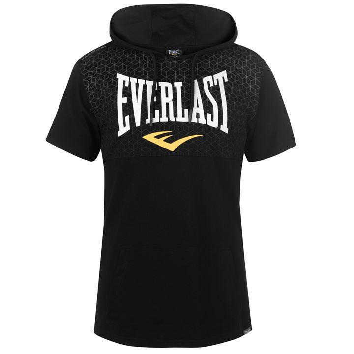 Pánské černé tričko s kapucí EVERLAST c972410d45