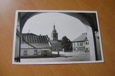 Přibyslav-Havlíčkuv Brod,Vysočina,1940, obchod s masem a hosp. potreby