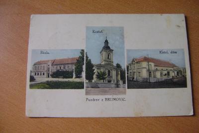 Brumovice-okr.Břeclav-Hustopoče-kostel,1930