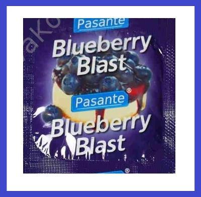 Kondomy PASANTE BLUEBERRY - borůvka 1 ks