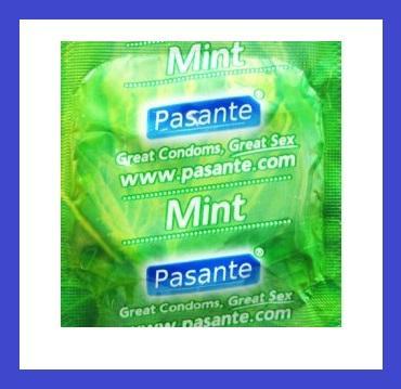 Kondomy PASANTE MINT - máta 1 ks