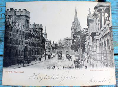Oxford, High street, velká 29 x 22 cm