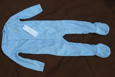 NOVÉ - Krásné dětské modré dupačky 68cm + Dárek
