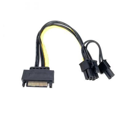 Napájecí redukce grafické karty SATA na 6-pin nebo 8-pin VGA