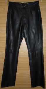 Černé koženkové jeansy - rifle zn. Marks & Spencer vel. S/M 36/38