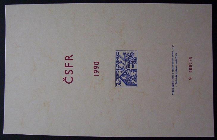 PŘÍLOHA ROČNÍKOVÉHO ALBA 1990 - HELSINKI EVROPA POF. 2945 (T8842) - Filatelie