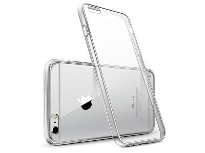 Průhledný tenký ohebný zadní kryt transparentní obal pro iPhone SE