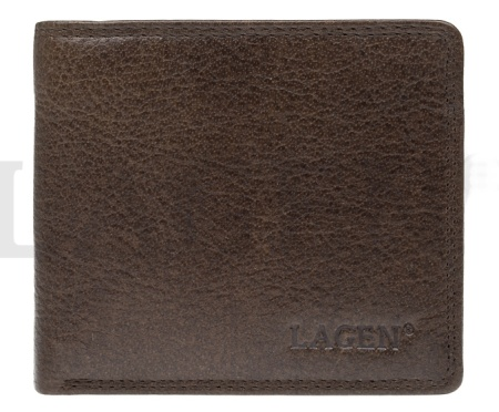 Lagen pánská peněženka hnědá pravá kůže Nová Sleva  f606b2519c