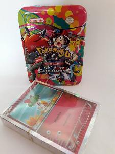 Pokemon kartičky v plechovce 42 karet