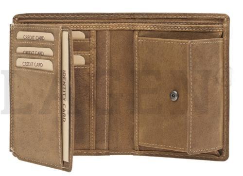 Lagen pánská peněženka hnědá pravá kůže Nová Sleva  ec228a5468