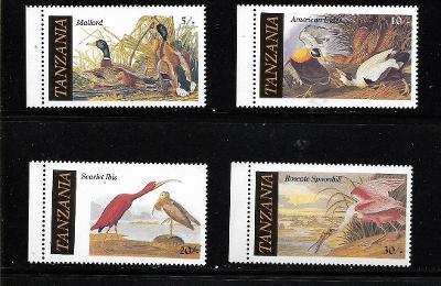 TANZÁNIE 315-18   Audubonovi ptáci **
