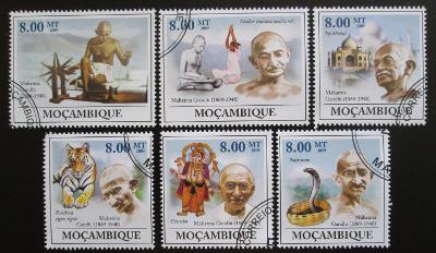 Mozambik 2009 Mahatma Gandhí Mi# 3294-99 0838
