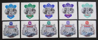 Tonga 1977 Střibrné jubileum Mi# 599-608 Kat 75€ 0525