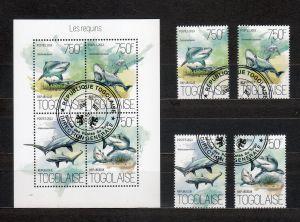 TOGO - FAUNA  MORA - RYBA - BLOK+ZNAMKY  - RYBY/88 - Filatelie