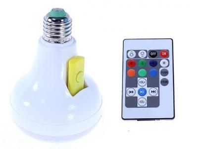 Chytrá bluetooth LED žárovka RGB + STICKY MAT ZDARMA