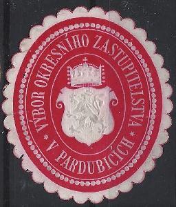 papírová pečeť výbor okresního zastupitelstva Pardubice