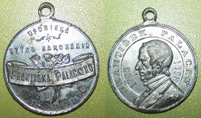 František Palacký 1898 100 let od narození šmakal