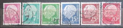 Německo 1960 Prezident Heuss Mi# 179-86 y Kat 240€ 0538
