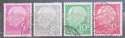 Německo 1954 Prezident Heuss Mi# 179,182-83,185 xY Kat 153€ 0538