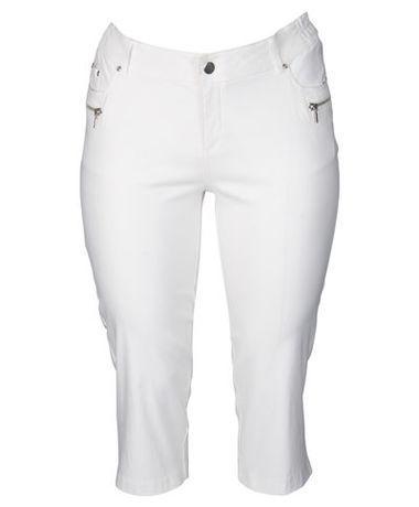 Dámské elastické bílé 7 8 kalhoty 0c04348bba