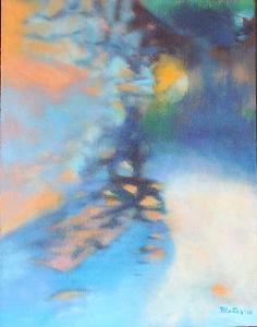 Podvečerní nálada, orig. akryl, abstrakce