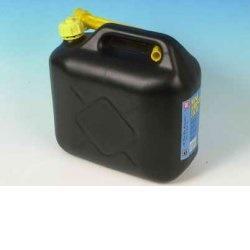 Kanystr na PHM plastový s nálevkou 10L M-00607 černý