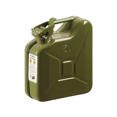 Kanystr kovový 5L M-070-0201 na PHM benzín, nafta, olej