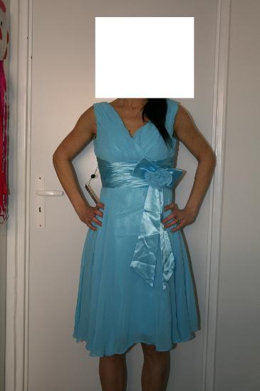 75000062806 Společenské plesové šaty GRACE KARIN - modré 34 - nové (6937464868)