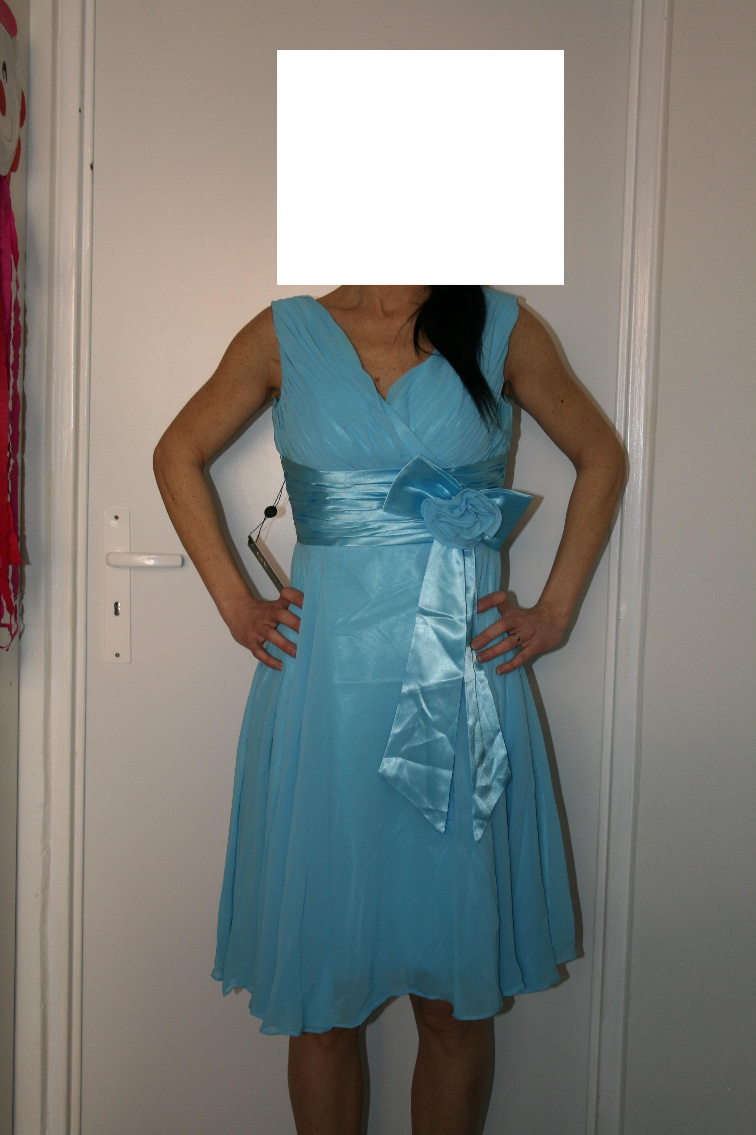 068b108fb6d Společenské plesové šaty GRACE KARIN - modré 34