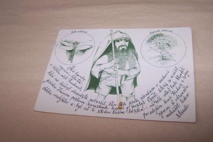 JESENÍKY REJVÍZ kontrolní kupon naučná stezka pastýř GYRL /pd18/ - Pohlednice