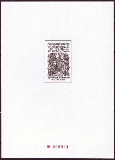 POF. PTR 8 - ČERNOTISK KUTNÁ HORA 2000 Z ROČNÍKOVÉHO ALBA (T5539) - Filatelie