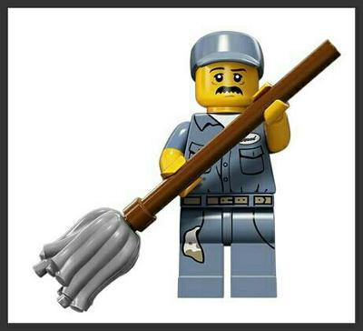 LEGO - figurka Uklízeč (série 15)
