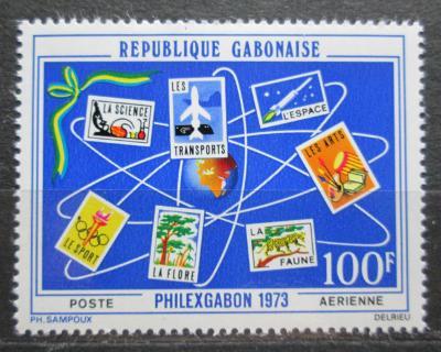 Gabon 1973 Výstava PHILEXGABON Mi# 493 0492