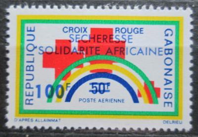 Gabon 1973 Červený kříž přetisk Mi# 513 0493