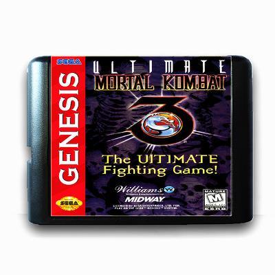 Ultimate Mortal Kombat 3 - Sega Mega drive herní kazeta NOVÁ