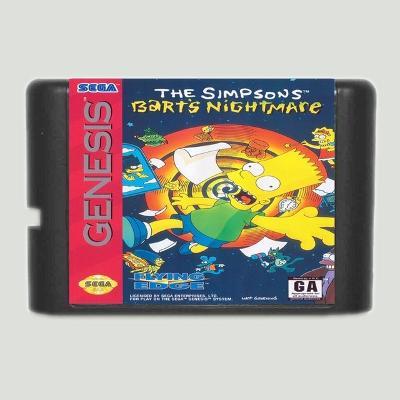 The Simpsons Bart's Nightmare - Sega Mega drive herní kazeta NOVÁ