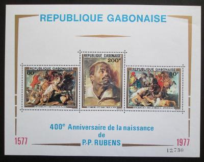 Gabon 1977 Umění, Rubens Mi# Block 32 1113