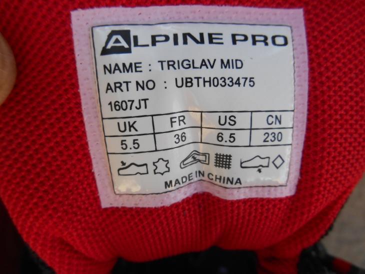 7c5b8af365d Nové kožené outdoorové boty zn.  ALPINE Triglav - vel. 36