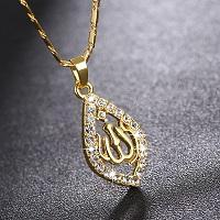 Náhrdelník arab muslim allah 18K zlacený *478