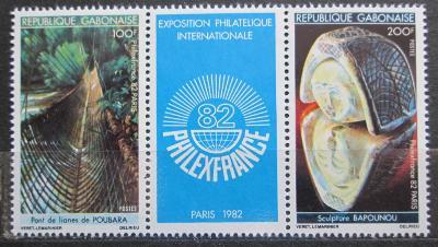 Gabon 1982 Výstava PHILEXFRANCE Mi# 822-23 1129
