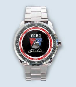 Ford Fairlane Car Logo - hodinky nerezová ocel nebo kožený pásek