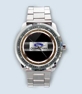 Ford Crown Victoria Car Logo - hodinky nerezová ocel nebo kožený pásek