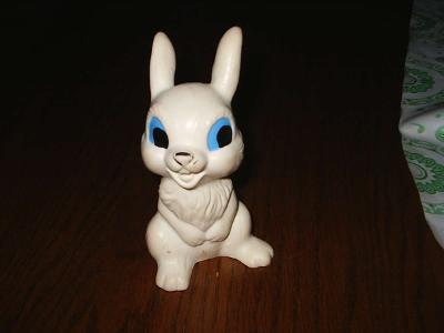 Stará/retro pískací hračka - zajíc / králík