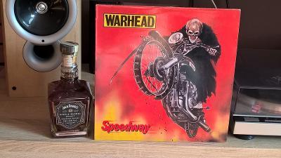 LP  Warhead – Speedway / Mausoleum Records