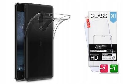Tvrzené ochranné sklo + průhledný ohebný zadní kryt pro Nokia 3.1 Plus