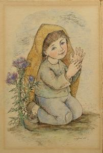 Akvarel a tuš 1958 - (H678)