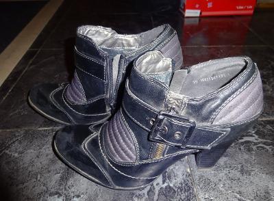 černofialové kotníkové boty vel 39